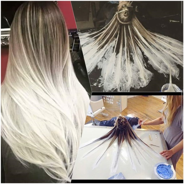 Fluid hair painting nova t cnica tend ncia ombr hair for Fluid hair painting